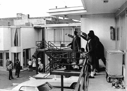 The balcony moments after the assassination of Martin Luther King, Jr.