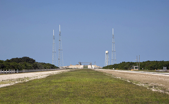Dismantled launch complex 39B, once used for Apollo & shuttle launches.